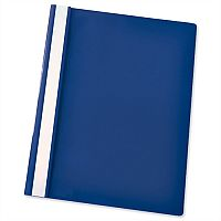Esselte A4 Dark Blue Report Flat File Lightweight Plastic Clear Front Pack 25 x 25