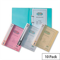Snopake Superline Ring Binder A4 Clear 15mm Size 2 O-Ring 10119 Pack 10