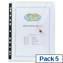 Snopake Punched Pocket Wallet Clear A4 Pack 5