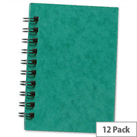 Silvine A6 Notebook Twinwire Sidebound Hardcover Perforated Ruled 192 Pages 75gsm Ref SPA6