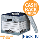 Fellowes Bankers Box System Archive Storage Box 00810-FF Pack of 10