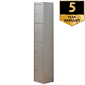 Bisley 4 Door Locker Steel Goose Grey CLK124-73
