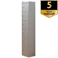 Bisley 6 Door Locker Steel Goose Grey CLK126-73