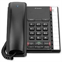 BT Converse 2200 Telephone Wall-mountable 10 Number Memory Speed Dial Black