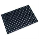 Octo Door Mat Indoor and Outdoor Rubber 600mmx800mm Black Doortex