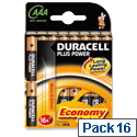 Duracell Plus Power 1.5V AAA Alkaline Battery 81275276 Pack 16
