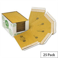 Jiffy Green Size 8 Padded Bags with Kraft Outer and Recycled Paper Cushioning Envelopes 442x661mm Pack of 25