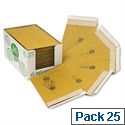 Jiffy Green Padded Bags Size 1 with Kraft Outer and Recycled Paper Cushioning 165x280mm Pack of 25