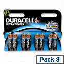 Duracell Ultra Power 1.5V AA MX1500 Alkaline Battery 81235497 Pack 8