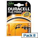 Duracell Plus AAA Battery Alkaline 1.5V (8 Pack) 81275401