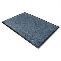 Dust Control Door Mat Polypropylene 600mmx900mm Blue Doortex. Easy To Clean With Vacuum Cleaner Or Hose Pipe. Retains Moisture & Dust Control Properties. Blue In Colour & Includes Anti-Slip Backing.