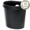 Avery DR500 Waste Bin with Rim Flat Back 18 Litres Black DR500BLK