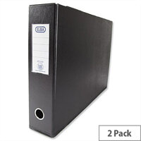 Elba A3 70mm Black Plastic Lever Arch File Pack of 2