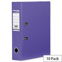 Elba Lever Arch File PVC 70mm Spine A4 Purple Pack of 10
