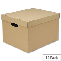 Archive Brown Storage Boxes [Pack 10] White Box