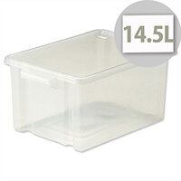 Strata Storemaster  Midi Crate Translucent 14.5 Litres Clear