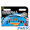 Duracell Ultra Power 1.5V AA MX1500 Alkaline Battery 81235502 Pack 12
