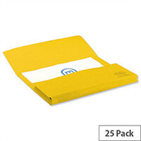 Elba Bright Manilla Foolscap Document Wallet Yellow Pack of 25