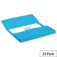 Elba Bright Manilla Foolscap Document Wallet Blue Pack of 25