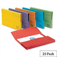 Elba Bright Manilla Foolscap Document Wallet Assorted Pack of 25