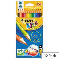 Bic Kids Ecolution Evolution Pencils Colour Assorted Wallet of 12