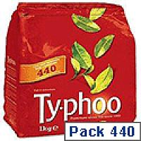 Typhoo Original Blend Tea Bags Vacuum Packed 1 Cup [Pack 440] 667802
