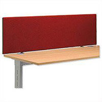 Jump 1800 Desktop Screen with Easy-fit Clamps W1800xH450mm Burgundy