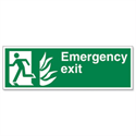 Stewart Superior Fire Exit Man Arrow Down Self Adhesive Vinyl Sign Standard
