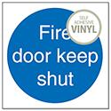 Stewart Superior Fire Door Keep Shut 100x100mm Self Adhesive Vinyl Sign (Pack of 5)