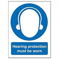 Stewart Superior Hearing Protection Must Be Worn Self Adhesive Vinyl Sign