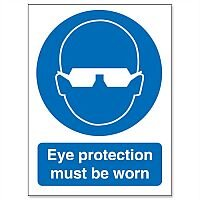 Stewart Superior Eye Protection Must Be Worn Self Adhesive Vinyl Sign