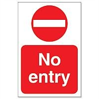 Stewart Superior No Entry Sign for Outdoor Use Foamboard