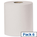 Tork Centrefeed Paper Hand Towel Rolls Single Ply 194mmx300m Ref J96122 White [Pack 6]