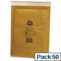 Jiffy Mailmiser Size 5 Protective Bubble Lined Envelopes 260x345mm Gold Pack of 50