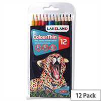Lakeland Colourthin Colouring Pencils Assorted Pack 12