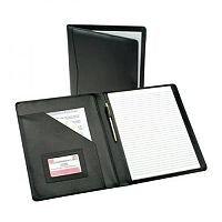 5 Star Elite Executive Conference Folder Genuine Leather Capacity 30mm A4 Black