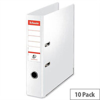 Esselte A4 Polypropylene 75mm White Lever Arch File Pack of 10