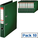 Esselte A4 Polypropylene 50mm Green Lever Arch File Pack of 10