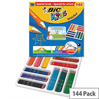 Bic Kids Ecolutions Hexagonal Colouring Pencils Assorted Pack of 144 Pack