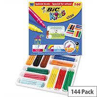 Bic Kids Assorted Visa Felt Pens Pack Of 144 Pens