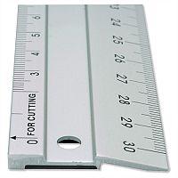 Linex Hobby Cutting Ruler 50cm Anti-slip Light Aluminium 1 Bevelled Side 1 Plain Side