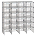 Mailsorter Mailroom Sorter Adjustable Plastic-Coated Steel 24 Compartments Grey Versapak