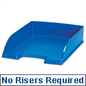 Plus Letter Tray High Sided Blue