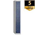 Bisley 6 Door Deep Locker 457mm Steel Goose Grey Blue CLK186-7339