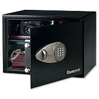 SentrySafe Master Lock Safe Black Laptop Size Electronic Lock Safe 34L