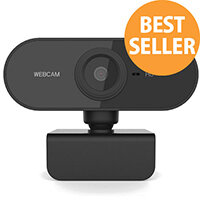 720p Webcam Computer Web Camera - Resolution: 1280x720 - USB 2.0, Clip Mount - Cable 1.3m - Built In Microphone, 360 Degree Flexible Rotatable, Fixed Focus, Automatic Exposure - Black