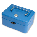 Cash Box Lockable 150mm Blue 2 Keys Removable Coin Tray