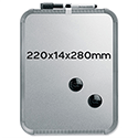 A4 Whiteboard SlimLine Magnetic 220 x 14 x 280mm Silver Nobo