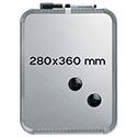 Nobo SlimLine Whiteboard Magnetic 280 x 14 x 360mm Silver
