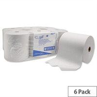 Kimberly Clark Scott 1ply Airflex  White Paper Hand Towel Rolls 304m (6 Rolls)